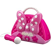 Minnie Mouse Voice Change Boombox With Microphone! Sing Along To Built In Music Or Connect Your Own Device! Minnie Bowtique Voice Change MP3 Boombox for Girls Who Love To Sing!