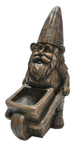 Kelkay Wheelbarrow Planter Gnome Statue