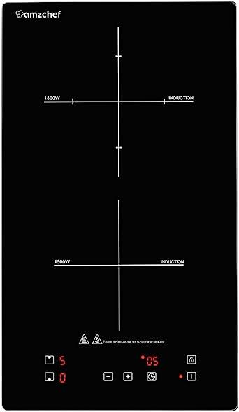 Domino placa inducción, Amzchef doble placa de inducción con ...