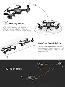 ARRIS Foldable RC Drone Wifi FPV 2.4G 4CH 6 Axis Altitude Hold Function Headless Quadcopter with 720P 2MP Wide Angle Camera from Hobby-Wing