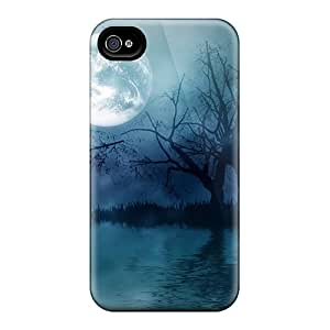 Iphone Cover Case - Dark Night With Moonshine Protective Case Compatibel With Iphone 4/4s