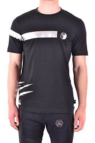7120c9515e8236 PLEIN SPORT Men s Mtk1664sjy001n02 Black Cotton T-Shirt