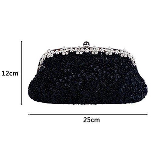Bags Evening Red Rhinestone Clutches Bags Shoulder Mother Wedding Beaded Vintage For Party Crossbodybag Sequins Womens Beaded Ladies Handbags gnXxCqHgT
