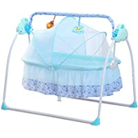 CBBAY Electric swing baby cradle Multifunctional newborn child tot little one rug rat crib babe neonatecart crib Bed Music charged electrifying bassinet crib cot rocker portable Automatic collapsible chair rockingoscillation rocker sway oscillate move back and forth move to and fro wave wag waggle rock infant baby product