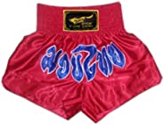 Red & Blue Muay Thai Boxing Trunks MMA Kick Boxing Shorts Fight Brief,