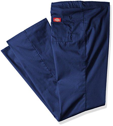 Pant Drawstring Lounge Scrub (Dickies Men's Big and Tall EDS Signature Unisex Drawstring Scrub Pant, Navy, Medium)