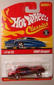 Hot Wheels Classic Series 1: 1968 Cougar #7 of 25 1:64 Scale Collectible Die Cast Car with a Special Spectraflame Paint
