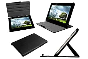Navitech Black Bycast Leather Case & Anti Glare Screen Protector For The Asus Transformer Prime TF201