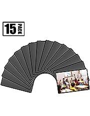 """Magicfly Cadres à Photos Magnétiques Frigo avec Poche Transparente, Convient aux Photos de 4""""x 6"""" (10x15 cm) pour Réfrigérateur Casier Armoire de Bureau, Paquet de 15pcs, Noir"""