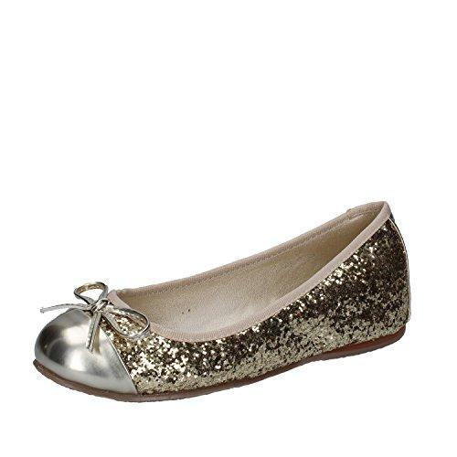 EU 39 Glitter Platinum US Flats 9 FRANCESCO MILANO Womens Ballet 1wxYA0