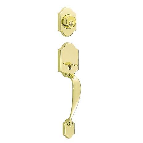Amazon.com: Asa de puerta de latón pulido con cilindro único ...