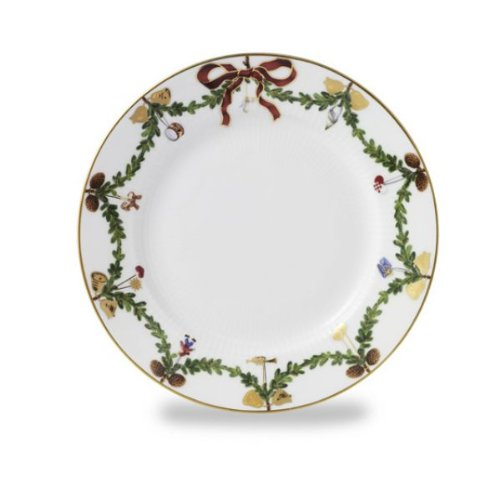 "Star Fluted Christmas 7.5"" Dessert/Salad Plate"