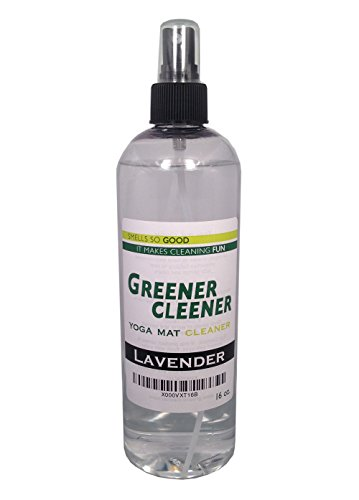 Natural LAVENDER Yoga Mat Cleaner 16 OUNCE Spray Wash Deodorize Disinfect Restore. SAFE FOR ALL MATS AND PROPS