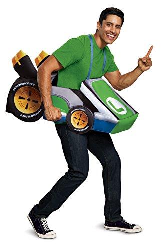 Disguise Mens Luigi Kart Adult Costume