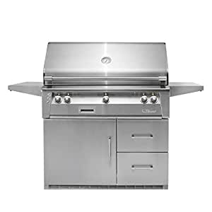 Amazon.com: Alfresco Refrigerated Cart Grill with Rotisserie ...