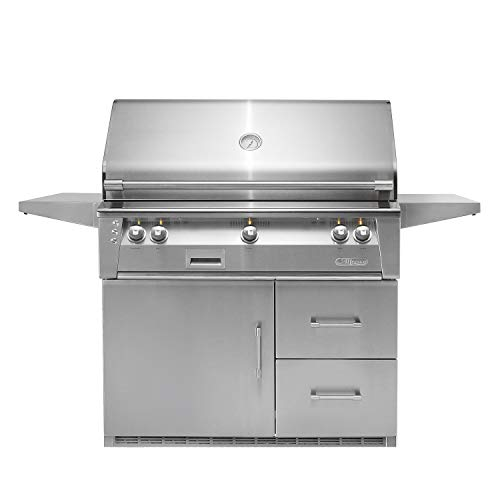 (Alfresco Refrigerated Cart Grill with Rotisserie and Sear Zone (ALXE-42SZRFG-NG), Natural Gas, 42-Inch)