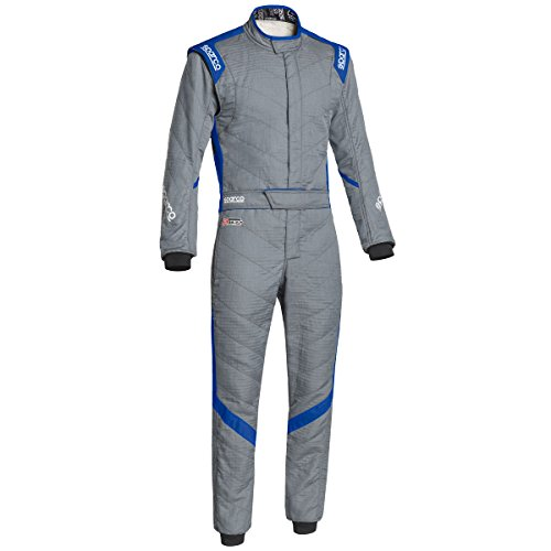 Sparco Victory RS-7 Racing Suit 0011277H (Size: 54, Grey/Blue) -