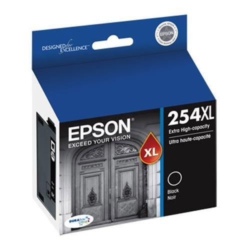 Epson T254XL120 (254XL) DURABrite Ultra High Capacity Black Ink (2,200 Yield) for Epson WorkForce WF-7110, 7610, 7620