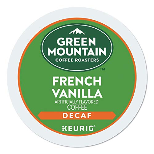 Green Mountain Coffee French Vanilla Decaf Keurig Single-Serve K-Cup Pods, Light Roast Coffee, 24 Count (Decaf Kcups Flavored)