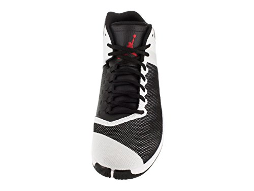 Nike Jordan Super.Fly 4 PO, Zapatillas de Baloncesto para Hombre Negro / Rojo / Blanco (Black / Gym Red-White-Infrrd 23)
