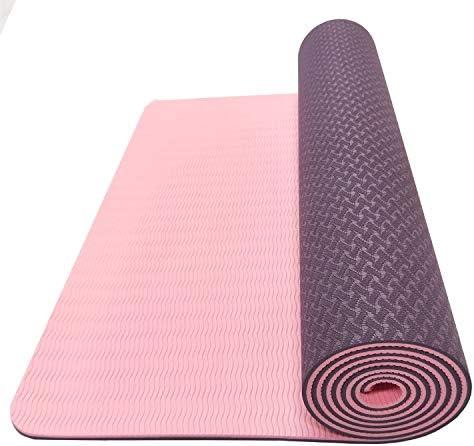 Yoga mat ヨガマット折りたたみトラベルフィットネスとエクササイズマット|ヨガの折り畳み式ヨガマットについてはA品種、ピラティスや床の演習、パープル workout