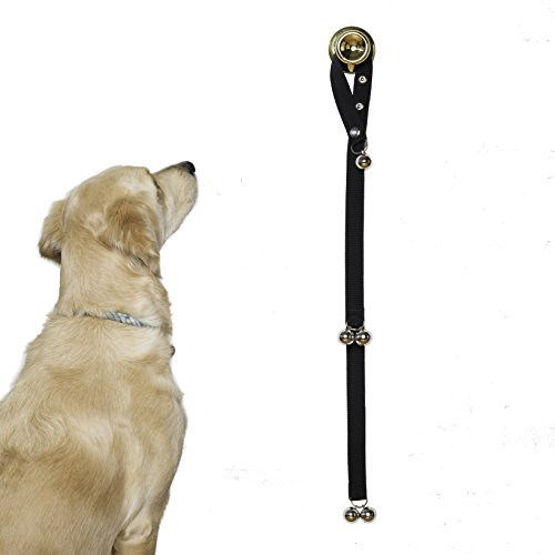 Potty Training Bells Help New Puppies & Older Dogs Learn Good House Manners | Adjustable Loop & Length Fits Every Size Dog & All Door Handles …