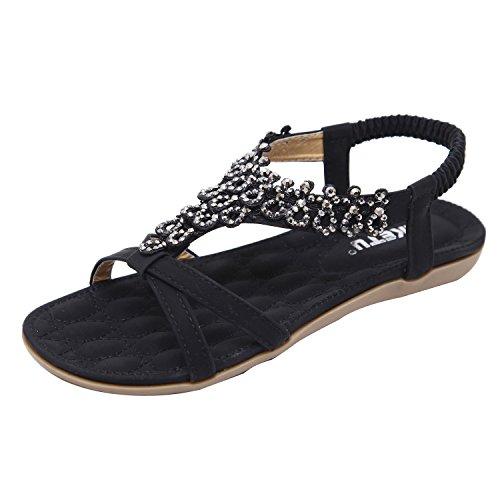 Sandales ZAMME CNPSHOE180 pour Femme Noir v5nHxSfqPw