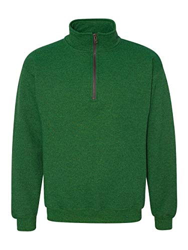 Gildan mens Heavy Blend 8 oz. Vintage Classic Quarter-Zip Cadet Collar - Zip Pullover Fleece Quarter