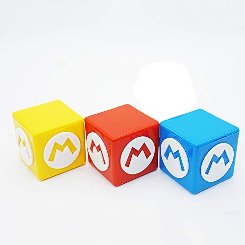 millet16zjh Game Cards Storage Box,Portable 12 in 1 Cube Protective Game Card Storage Box for Nintendo Switch Mario Blue