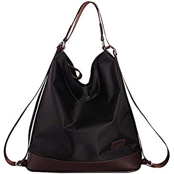 0be1ed558b Good Bag Women s Excellent Shoulder Handbags Exquisite Backpack Waterproof  Nylon Purse(Black)
