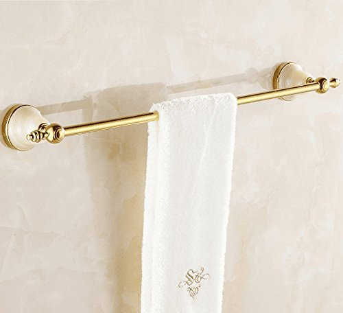 Hlluya The Jewel of The Whole Copper Rose Gold Single Lever Towel Rack Towel bar Solid Brass Towel Towel bar Orders Hardware, Solid Brass Single Lever from The Punch, Golden, 63cm