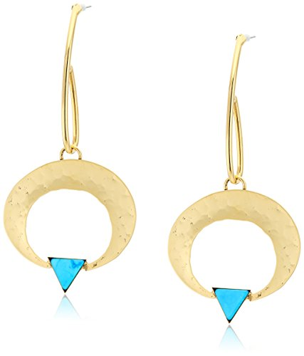 Ring Yochi (Yochi Turquoise Drop Circle of Love Earrings)