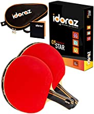 Idoraz Table Tennis Paddle Professional Racket - Ping Pong Racket with Carrying Case – ITTF Approved Rubber fo
