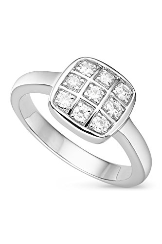 Checkerboard Anderson Forever Classic Moissanite Ring - Size 7 By Charles & Colvard by Charles & Colvard
