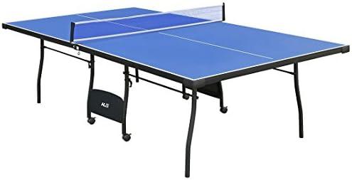hlc Profesional Mesa de Ping Pong Interior Sistema Plegable con Ruedas y Redes, con Funda,Color Azul Gran Promoción!!!!: Amazon.es: Deportes y aire libre