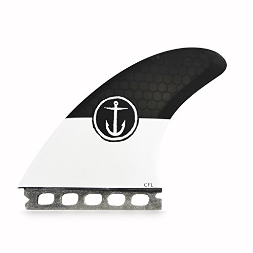 Captain Fin Co. CF-5-Fin large Single Tab/Futures Compatible Surfboard Fin, Black by Captain Fin Co. (Image #1)