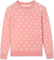 BOBOYOYO Girls' Sweater Long Sleeve Crew Neck Cotton Pullover Knit Sweater with Love Heart Pattern 5