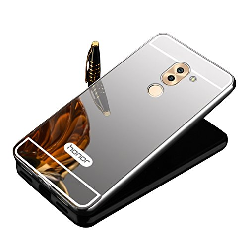Aluminum Metal Frame Back Cover Case for Huawei Honor 6X (Silver) - 1