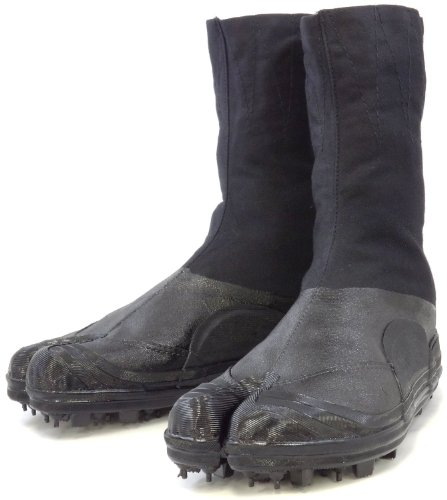 Spike Tabi Shoes, Jikatabi boots, Rikio Durable Tabi Ninja Boots (JP 27cm US Men Size 9 Women Size 10)