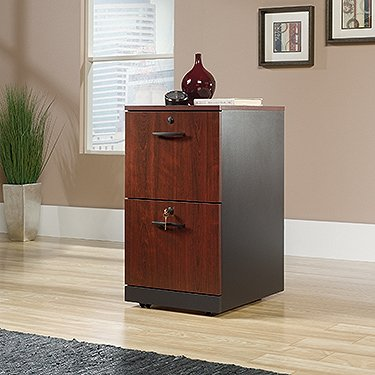 Sauder Via 2 Drawer File Cabinet in Classic Cherry -