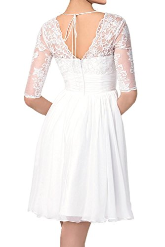 Braut Cocktailkleider Flieder Festlichkleider Abendkleider Damen Gelb mia Chiffon Spitze Mit Partykleider La Langarm Ballkleider qx65p16w