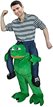 Frog Ride On Halloween Costumes Christmas Shoulder Carry Fancy Dress Adult