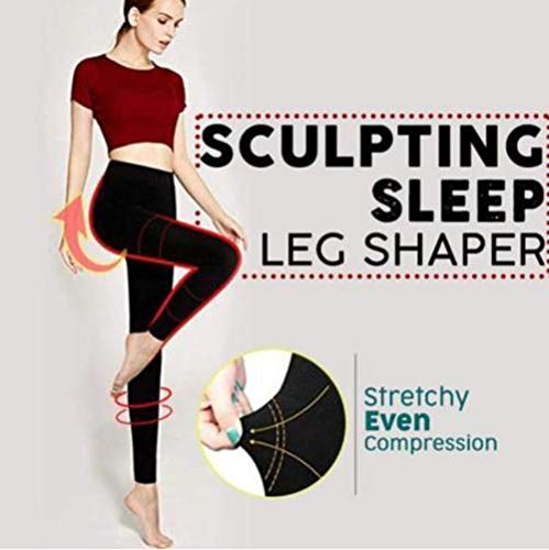 Botrong Sculpting Sleep Leg Shaper Pants Legging Socks Women Body Shaper Panties (M)