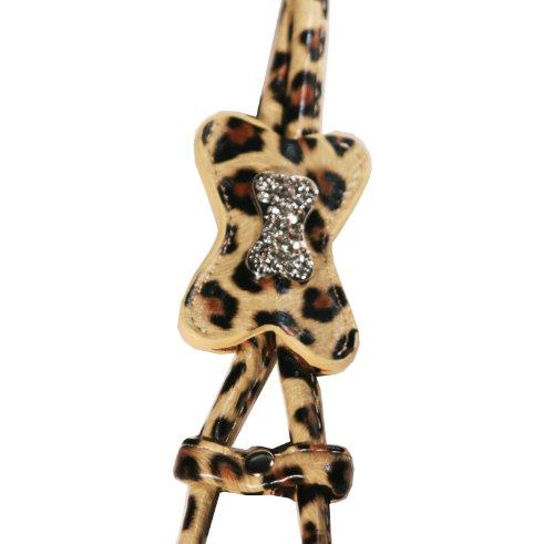 Hip Doggie Pink Snow Leopard Bone Step-in Harness, XX-Small, My Pet Supplies