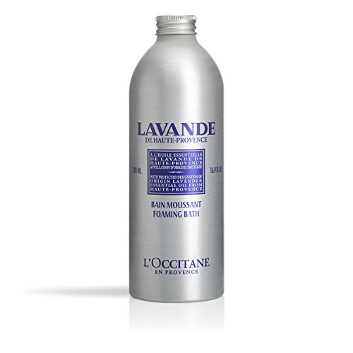 Relaxing Lavender Foam Bath - L'Occitane Relaxing & Foaming Lavender Bubble Bath, 16.9 fl. oz.