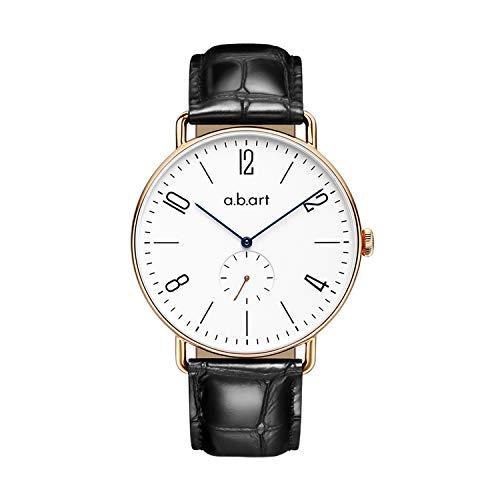 abart FN41-001-15L Alexander Strap Blue Hand Sapphire Crystal Dial Men's Dress Watches