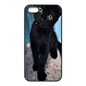 DIY Black Cat Iphone 5,5S Cover Case, Black Cat Personalized Phone Case for iPhone 5,iPhone 5s at Lzzcase