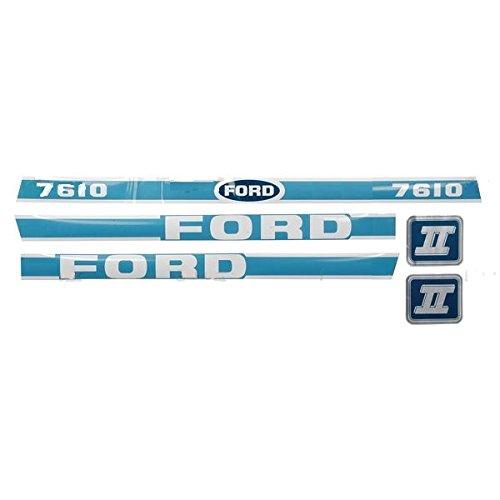 New Ford Hood Decal Set Light Blue/White 7610