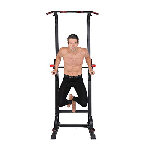 Power Tower - Home Gym Adjustable Multi-Function Fitness Strength Training Equipment Stand Workout Station