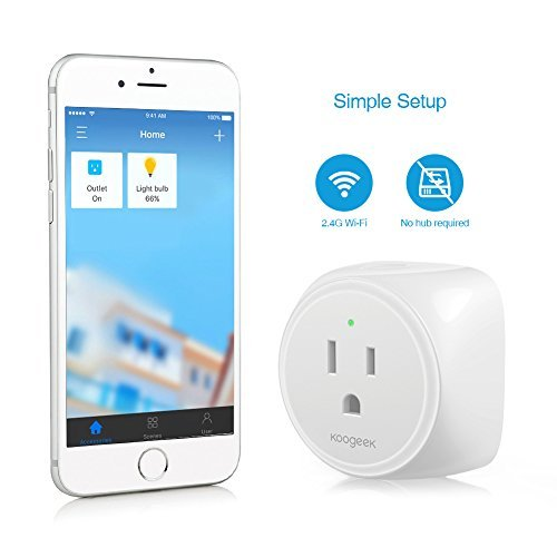 Koogeek Smart Plug, WiFi Outlet, on 2.4Ghz Network, for iOS and Android Devices Remote Control, Night Light, Works with Alexa and Apple HomeKit by Koogeek (Image #8)